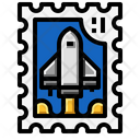 Rocket Stamp Icon