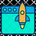 Rocket Website Launch Website Launch Icon