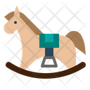 Toy Kid And Baby Rocking Horse Icon