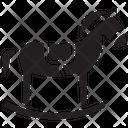 Rocking Horse Horse Toy Icon