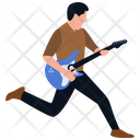 Rock Star Playing Guitar Guitar Player Icon