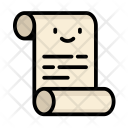 Roll Scroll Papper Icon