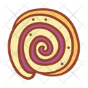 Roll Cake Bakery Food Icon