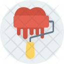 Roller Paint Heart Icon