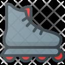 Roller Skate Fittness Icon