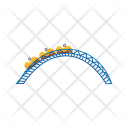 Roller Coaster Amusement Icon