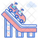 Roller Coaster Theme Park Amusement Park Icon