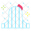 Roller Coaster Fun Amusement Park Icon