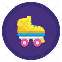 Roller Skate Skating Shoes Skateboard Icon