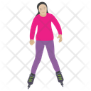 Roller Skating Skating Leisure Activity Icon