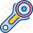 Roller Then Roller Cutter Rotary Cutter Icon