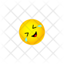 Rolling On Floor Laughing Smiley Icon