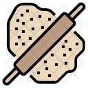 Rolling Pin Baking Bread Cooking Icon