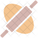 Rolling Pin Bread Roller Bakery Icon