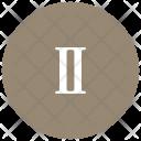 Roman Letter Two Icon