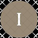 Roman Letter One Icon