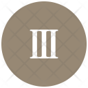 Roman Three Number Icon