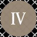 Roman Four Number Icon