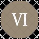 Roman Six Number Icon