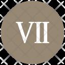 Roman Seven Number Icon
