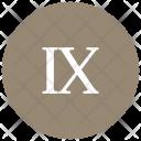 Roman Ten Number Icon