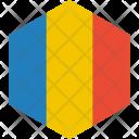 Romania Flag World Icon