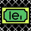 Romanian Leu Banknote Country Icon