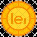 Romanian Leu Coin Currency Icon