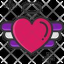 Romantic Heart Flying Icon