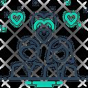 Romantic Couple Heart Icon