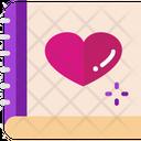 Diary Love Diary Romantic Book Icon