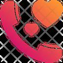 Romantic Call Love Communication Love Call Icon
