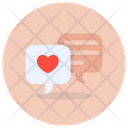 Romantic Chat Favorite Chat Love Communication Icon