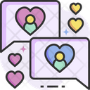 Romantic Chat Love Chat Love Message Icon