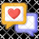Love Conversation Love Messages Valentines Messages Icon