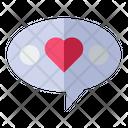 Love Speak Balloon Love Valentine Icon