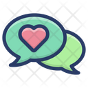 Romantic Communication Icon