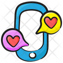 Romantic Communication Texting Conservation Icon