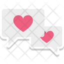 Romantic conversation Icon