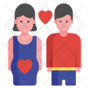 Romantic Couple Lovers Spouse Icon