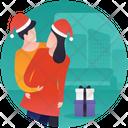 Romantic Couple Christmas Gift Surprise Gift Icon