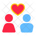 Romantic Couple Message Icon