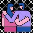 Couple Heart Valentine Icon