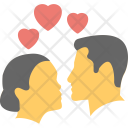 Romantic Couple Lovers Icon
