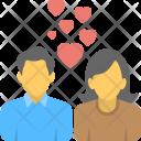 Romantic Couple Lovers Icon