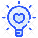 Love Bulb Lamp Icon