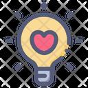 Love Bulb Lamp Icon