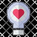 Love Light Bulb Love Valentine Icon