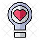 Love Light Bulb Love Valentine Icon