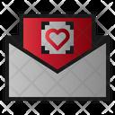 Mail Hearth Message Icon